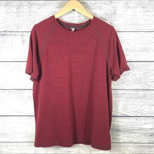 Men's Alo Yoga red short sleeve top 2 available